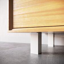 Zimmerheld Möbelfüße MFV1 Aluminium in Weiß Sockelfüße Schrankfüße verstellbar