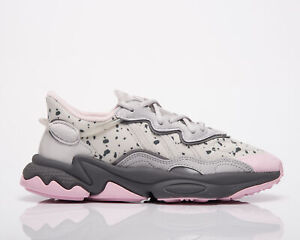 adidas Originals Ozweego Women's Grey One Grey Two Pink Lifestyle Shoes Sneakers