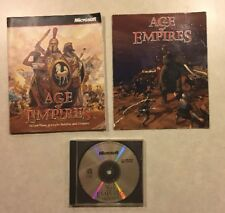 AGE OF EMPIRES I CD (very Scratched) + Instructions + Insert PC Game Windows 95