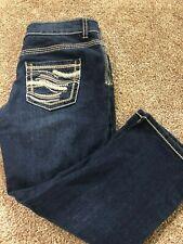 MAURICES Women's Decorative Pocket STRETCH Jean Capri Pants  Sz 1/2