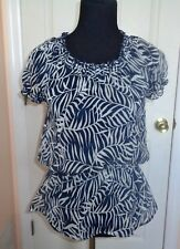 My Collection Women's Black and White Blouse Sz S