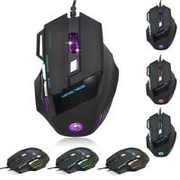 High-End Players 5500DPI 7D LED Optical USB Wired Gaming PRO Mouse For PC Laptop