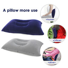Double Sided Inflatable Camping Pillow Mats Sleep Cushion For Picnic Travel Soft