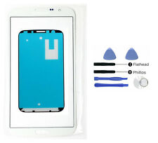 White front glass lens screen replacement Fit Galaxy Mega 6.3 Tool Adhesive