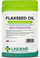 Lindens Flaxseed Oil 1000mg Capsules (90 pack) omega 3 6 9 flax seed