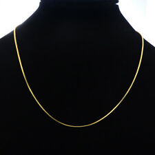 1PC 24K Gold Plated 1mm Snake Chain Necklace 45.1cm long