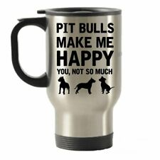 Pit Bulls make me Happy da viaggio in acciaio INOX isolato bicchieri tazza