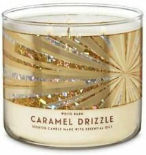 """Bath & Body Works ~ White Barn, """"CARMEL DRIZZLE"""" 3 Wick Scented Candle 14.5 oz"""