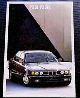"""ORIGINAL 1989 BMW 735i 735iL PRESTIGE SALES BROCHURE ~ 36 PAGES ~8"""" X 11.5"""" ~B89"""
