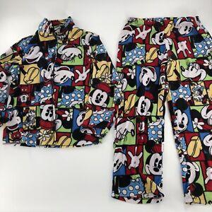 Disney sleep wear pajama set size medium (8-10) kids Mickey Mouse