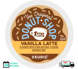 Donut Shop Vanilla 1 One Step Latte Keurig Coffee K-cups YOU PICK THE SIZE