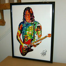 David Gilmour, Pink Floyd, Lead Guitar Player, Singer, Rock, 18x24 POSTER w/COA