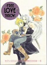 Final Fantasy 7 VII doujinshi Sephiroth x Cloud Free Love Throw Kiserado 74p
