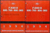 1994 Ford Truck Shop Manual Set F600 F700 F800 FT900 B600 B700 Repair Service 94