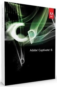 Adobe  Captivate 6 Mac (Retail) (1 User/s) for Mac 65185765 - Factory Sealed