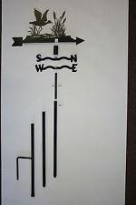Decorative Metal Wind Vane, Steel Weathervane Flying Duck, Yard Decor, 5 ft tall