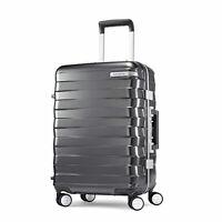 "Samsonite Framelock Hardside Carry On Luggage with Spinner Wheels 20"" Dark Grey"