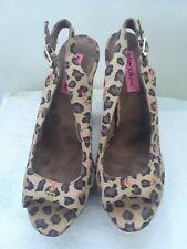 Betsy Johnson Leopard Print Platform Heels