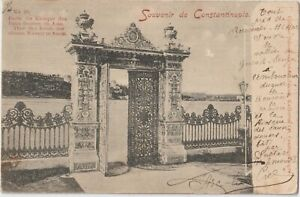1901 TURKEY CONSTANTINOPLE POSTCARD COVER FRANCE POST OFFICE LEVANT