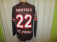 FC St.Pauli DoYou Football Langarm Matchworn Trikot 12/13 + Nr.22 Bartels Gr.S-M