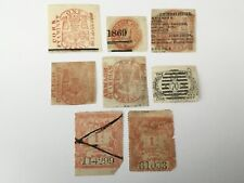 old stamps GREAT BRITAIN x 8 newspaper stamps