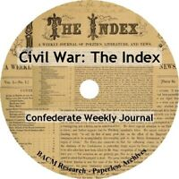 Civil War Confederate Newspaper: The Index Weekly Journal 1862-1864