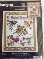 RARE 1995 Janlynn Birds of Summer counted cross stitch kit, Barbara Sestok seale