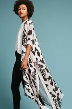 Anthropologie Elizabeth Gillett One Size S M L XL Slits Daydreamer Floral Kimono