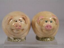 Harmony Kingdom / Ball-Pot Bellys 'Pigs' Salt & Pepper Shakers-#Sppi2 New In Box