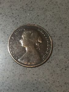 1862 British  Queen Victoria -Half Penny