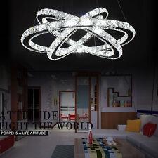 72W LED Deckenlampe Pendellampe Kristall Hängeleuchte Esszimmer Kronleuchter Neu