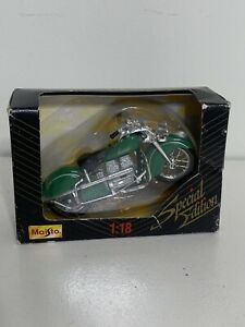 1997 special edition 1/18 scale die cast indian motor cycle Maisto