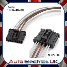 FOR Peugeot 206 207 307 308 Rear Tail Light harness BLACK connector loom Plug **