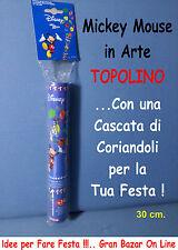 SPARA CORIANDOLI PARTY FESTA MICKEY MOUSE 30 cm PICCOLO e POTENTE