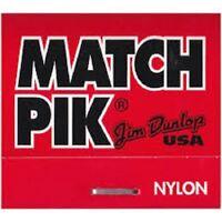 Pochette style allumettes de 6 médiators Match pik Dunlop USA 0,46 mm