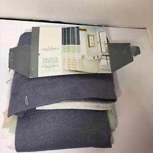 "Textured Stripe Shower Curtain Threshold  72"" x 72"" Blue Yellow Green"