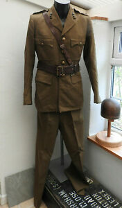 Military WW2 Royal Engineers Complete Tunic Sam Brown Officers Uniform (5481)