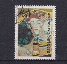 Briefmarken Österreich, Der Kuß, Gemälde von G. Klimt, 1154 gestempelt