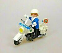 Playmobil 3564 Polizeimotorrad Polizei Motorrad Polizist Vintage