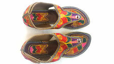 USA 8.5 Indian Mojari Thong Shoes Handmade Sandal Gladiator Traditional Slipper