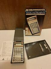 Texas Instruments BA-III Executive Business Financial Calculator Manual Box 1986