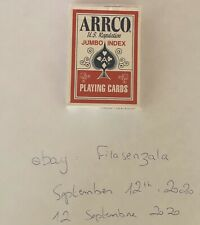 Arrco Blue Seal Cincinnati Ohio Jumbo Index Deck Playing Cards Vintage