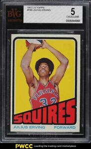 1972 Topps Basketball Julius Erving ROOKIE RC #195 BGS 5 EX