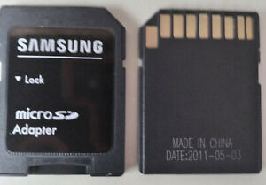 5 Qty Samsung MicroSD/SDHC/SDXC to Full SD Memory Card Adapter Lot of 5