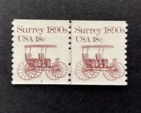 US Stamps, Scott #1907 18c 1983 Joint Line Pair #9 VF/XF M/NH. Post Office fresh