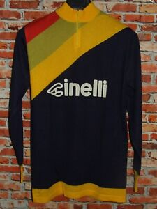 Shirt Bike Maillot Cycling Heroic Vintage 70'S CINELLI 50% Wool Embroidered