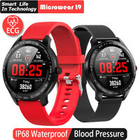 Smart Watch Men's ECG + PPG Heart Rate Blood Pressure Oxygen Monitor IP68 Watch