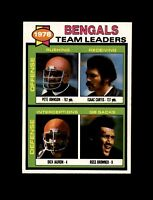 1979 Topps #94 Bengals Leaders (Johnson Curtis Jauron Browner) NM+