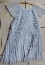 Robe tunique plissée bleu ciel ± 12 ans