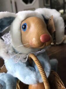 Raikes Originals Vintage Daniel Blue Bunny Rabbit w/Egg Basket 1991 Jacobson's